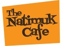 Cafe signage orange logo