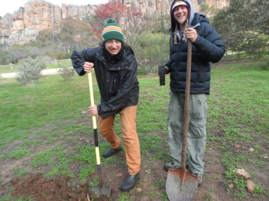 Campground users happy to dig in.