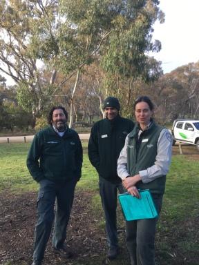 Stuart Harradine, Damien Skurrie and Zoe Wilkinson from PV