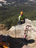 Adam over the edge at Boroka Lookout